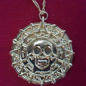 Other - Aztec coin necklace, gold plated